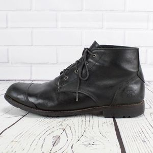 Timberland Black Leather Ankle Moto Boots Size 14